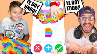 TRADEO DE POP IT   Intercambio de FIDGET TOYS   JUEGOS KARIM JUEGA screenshot 2
