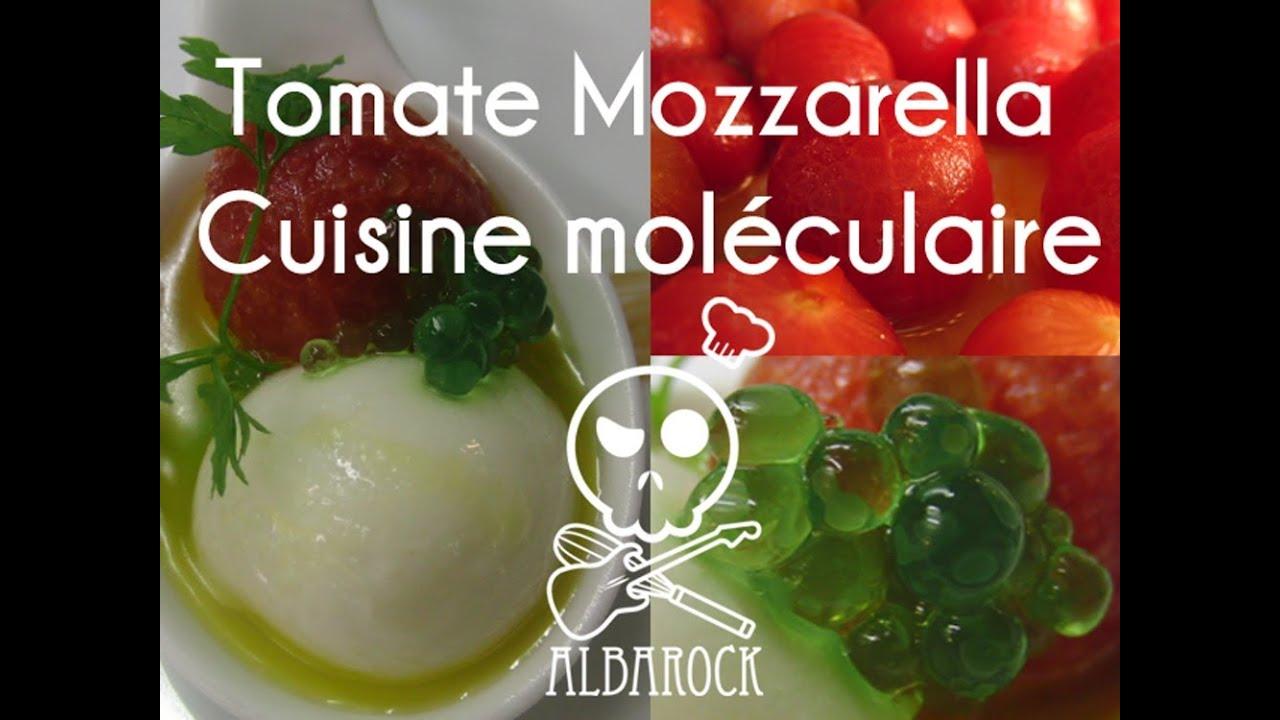 Tomate mozzarella cuisine mol culaire ap ritif recette for Cuisine moleculaire