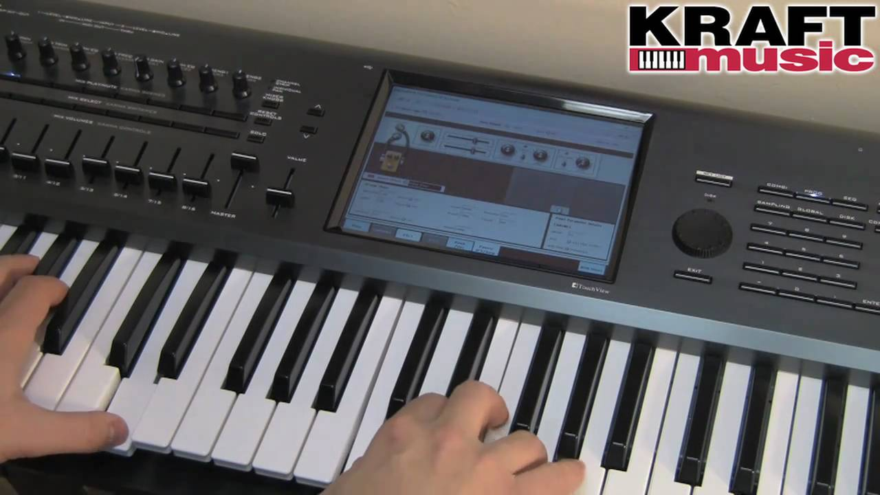 Kraft Music - Korg Kronos Workstation Demo with Rich Formidoni HIGH QUALITY!