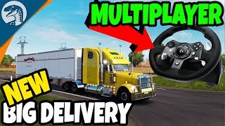 BIGGEST CONVOY DELIVERIES & NEW UNBOXING | American Truck Simulator Multiplayer Gameplay
