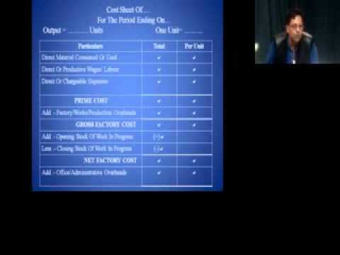 Cost Accounting UG Sem-IV: Unit Costing by Dr. P.K. Sanse on 07 Feb 2015