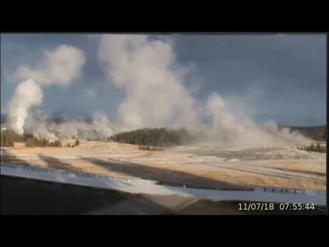 They Covered Explosive Grand Geyser Going Off Nov 6th! Yellowstone