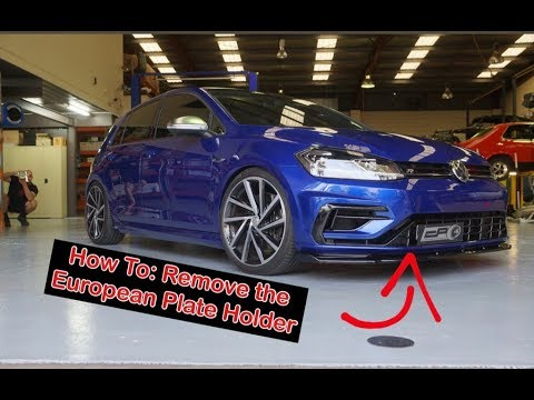 Golf R | Euro Plate Holder Removal | Nick Cheadle