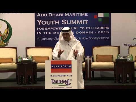 Al Bastaki at the Abu Dhabi Maritime Youth Summit