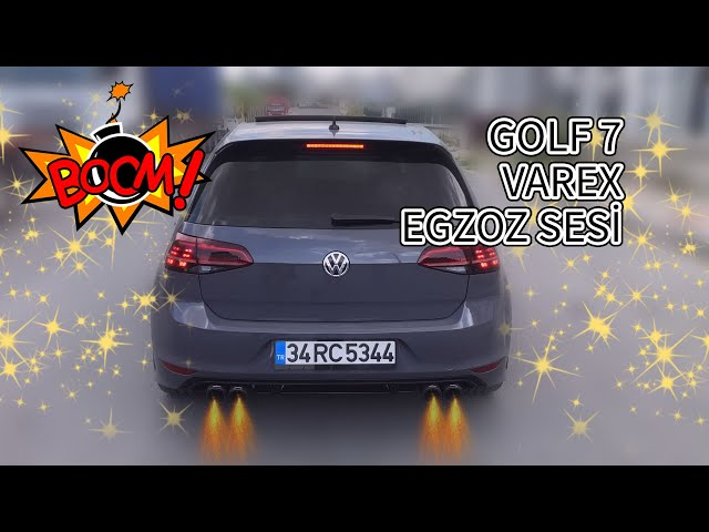 Volkswagen Golf 7 1.4 Tsi Varex Egzoz Sesi ve R Line Body Kit