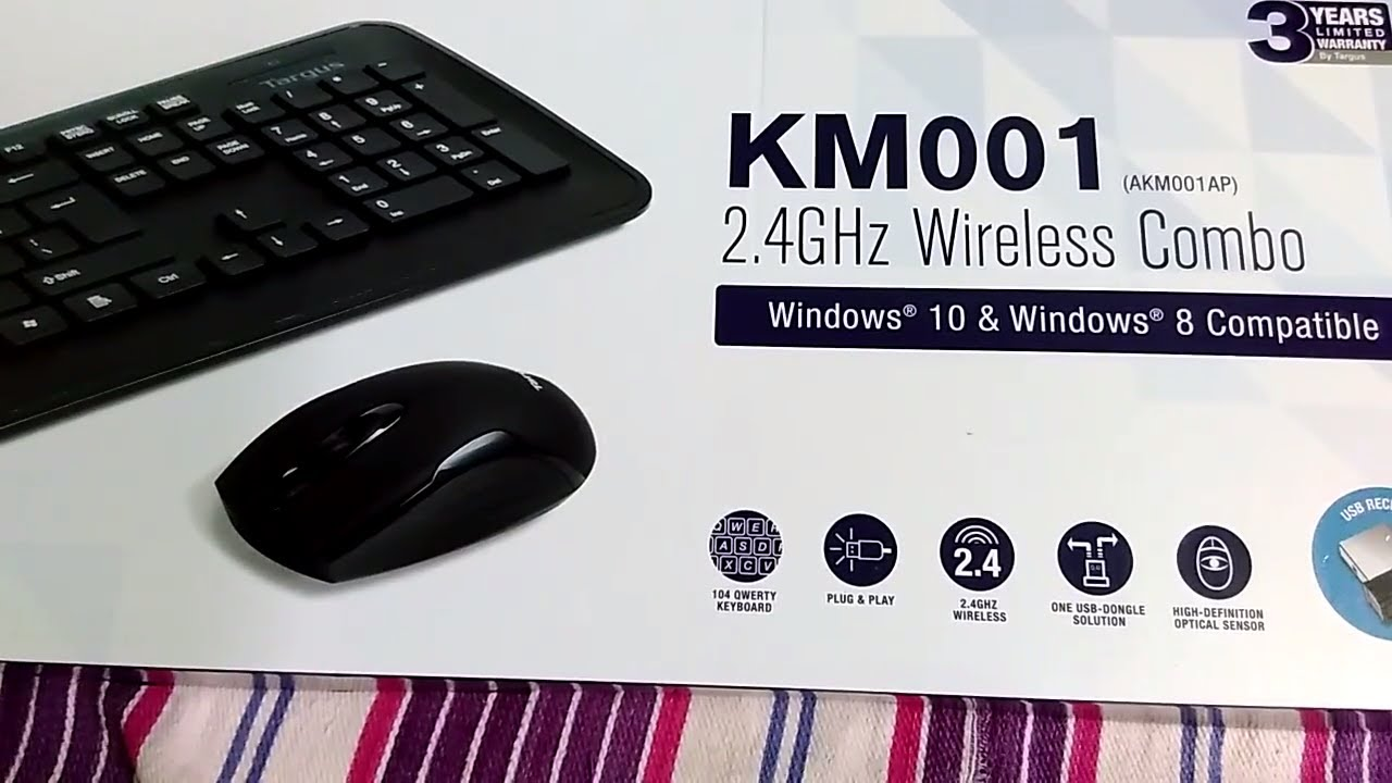 Targus Akm001ap Wireless Keyboard And Mouse Combo Black Wire Center Female21x55mmdcpowerplugjackadapterwireconnectorforcctv 2017 Review Rh Youtube Com