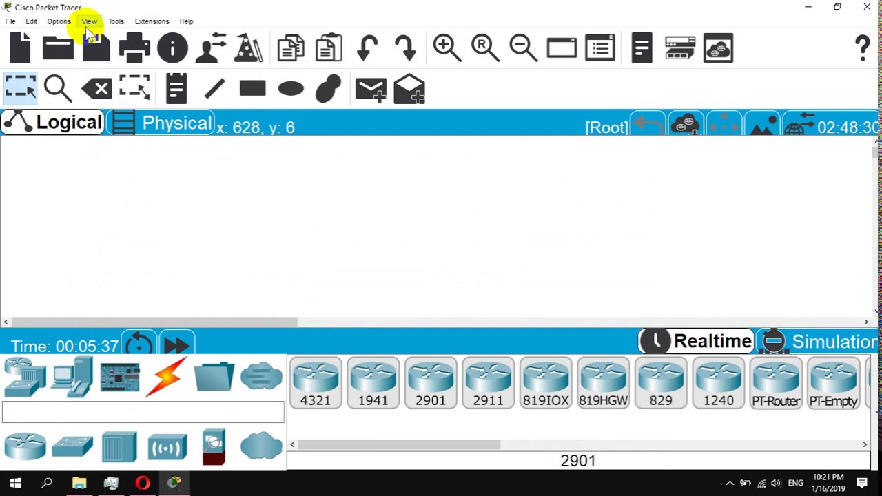 how to change icon size in cisco packet tracer