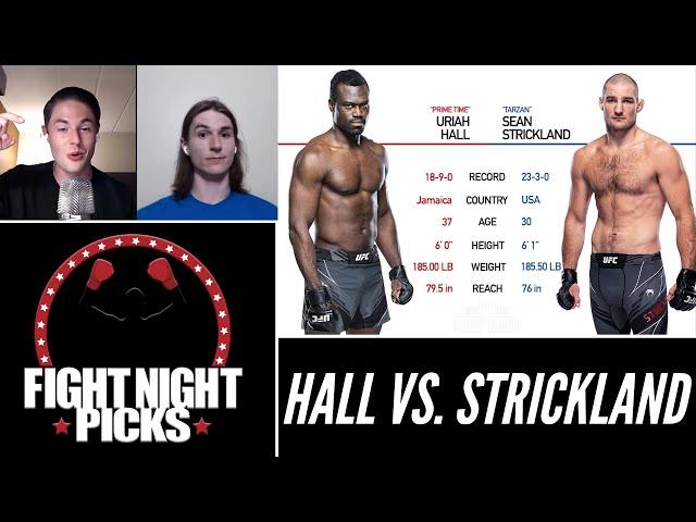 UFC Fight Night: Uriah Hall vs. Sean Strickland Prediction