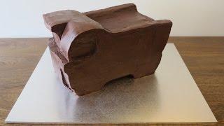Dump Truck Cake - Carving & Ganache - Part 1