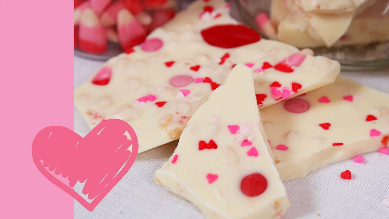 White Chocolate Valentine S Bark Valentine S Day Edible Gifts Youtube