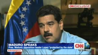 Christiane Amanpour from CNN interviews Venezuelan President Maduro on 2014-03-07