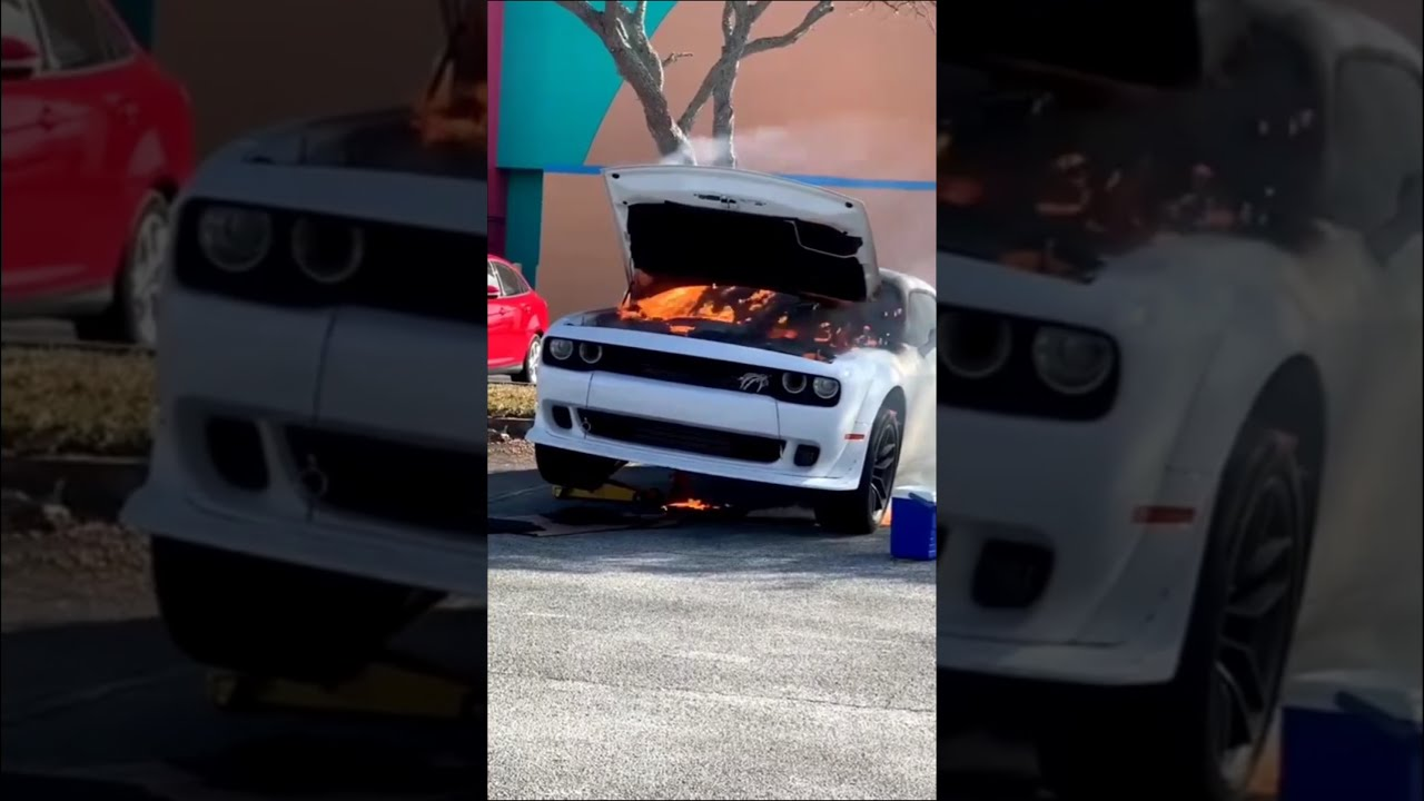 Hellcat Redeye on Fire with Aftermath video