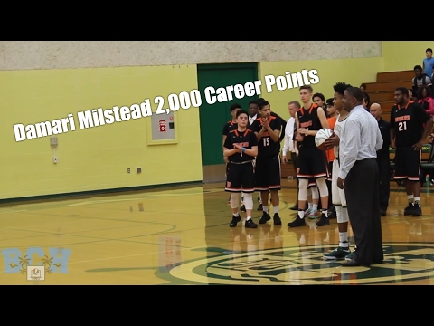 DAMARI MILSTEAD BECOMES ALL TIME LEADING SCORER FOR MOREAU! RECORDS 2,000+ CAREER POINTS!! #DOB!!