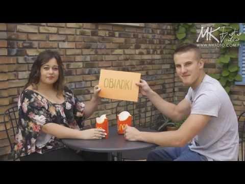 Kreatywne podziękowania dla rodziców wesele Bielsko Biała kamerzysta filmowanie