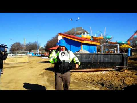 Carowinds Carolina Harbor Construction Tour 12-16-2015