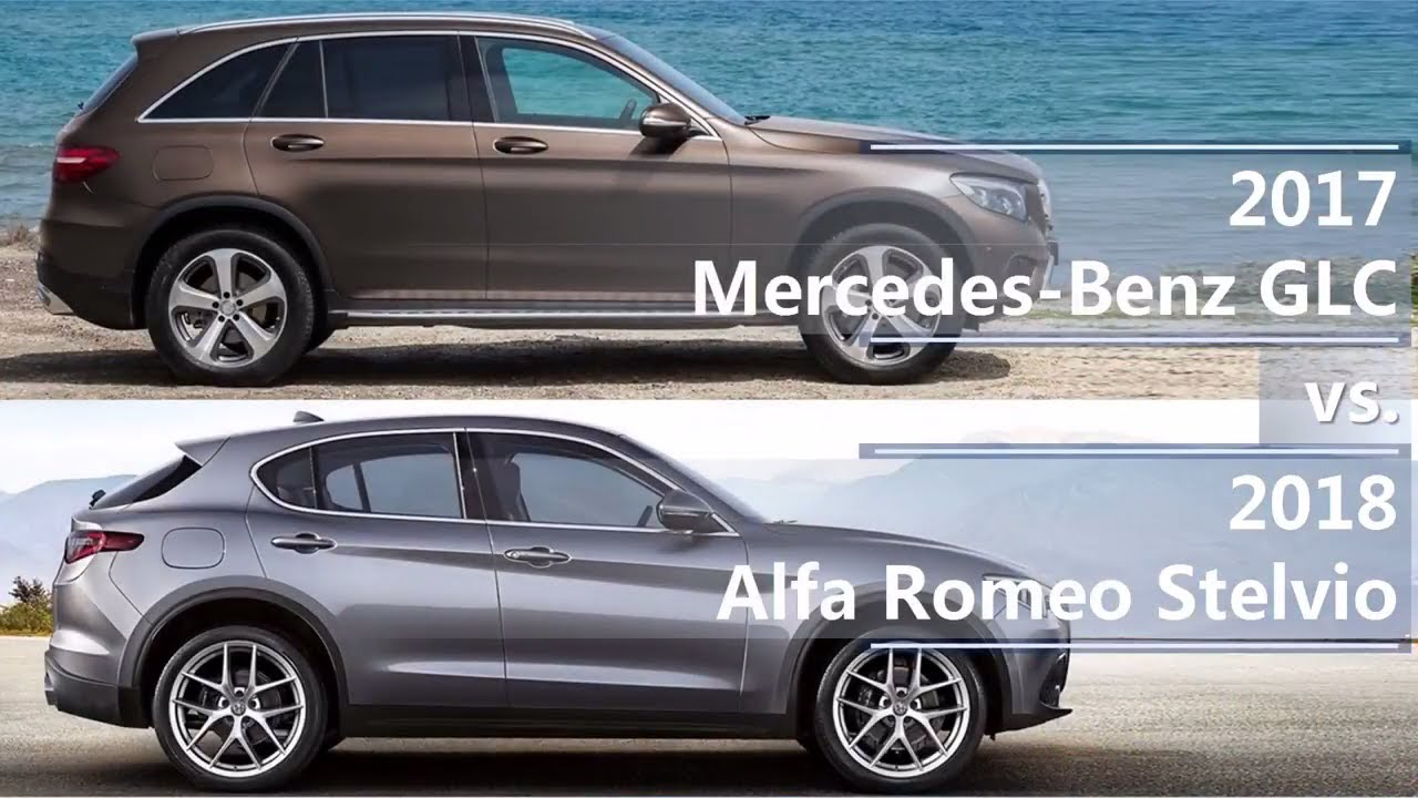 2017 mercedes benz glc class vs 2018 alfa romeo stelvio for Alfa romeo vs mercedes benz