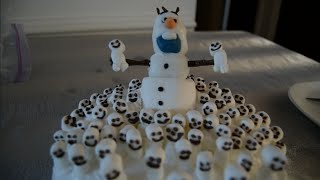 Frozen Fever Cake How to Make Snowgies and Olaf Cake from Frozen Fever 2 Tutorial Frozen Short