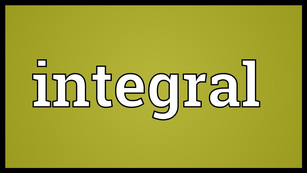 integral accounting meaning