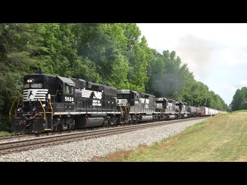NS CSX and Amtrak Trains on the Norfolk Southern Piedmont Division