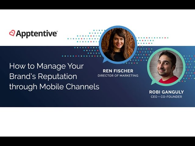 Post for video 'How to Manage Brand Reputation through Mobile Channels