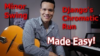 Django's chromatic run in 'Minor Swing' made super easy!