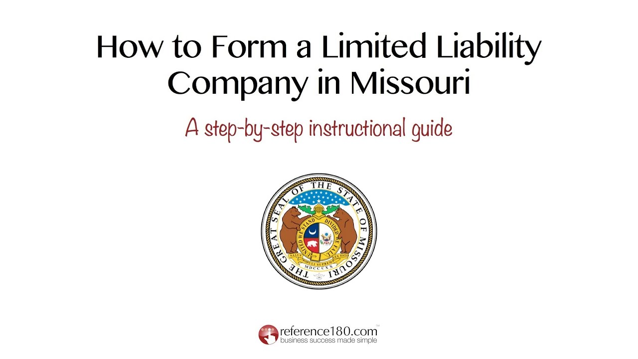 How To Form An Llc In Missouri Youtube