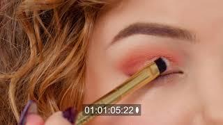 EvelineInspiruje paleta RUBY GLAMOUR prosty świeży makijaż na dzień