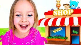 Детская песня - Пойдем по магазинам. Песни для детей от Майи и Маши