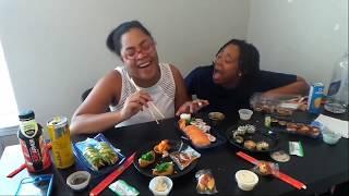 Sushi mukbang #famfirst #familyvlog #mukbang