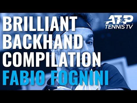Fabio Fognini Brilliant Backhand Winner Compilation