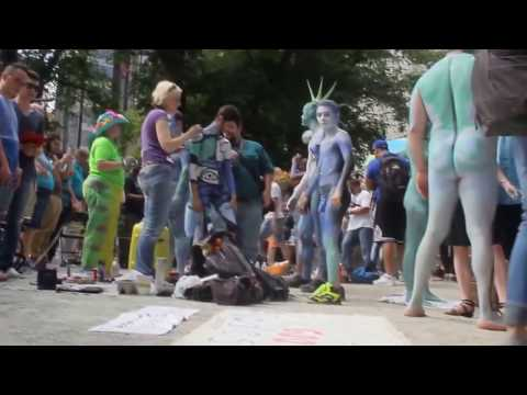 New Annual Body Painting, Belgrade public art Body Painting performance