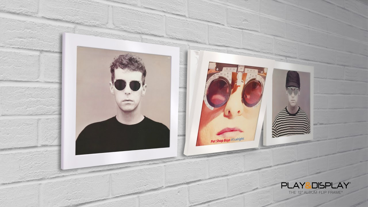 Pet Shop Boys - Art Vinyl Play & Display Flip Frames - YouTube