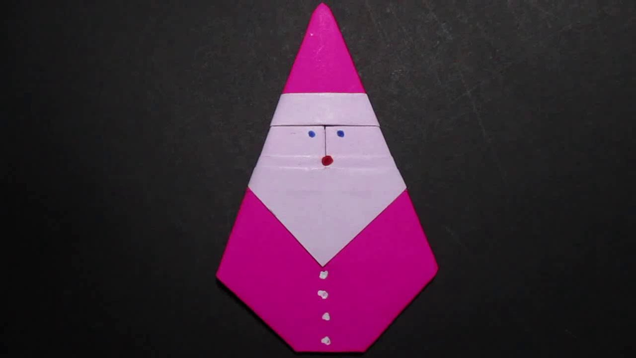 origami santa claus how to make an origami father