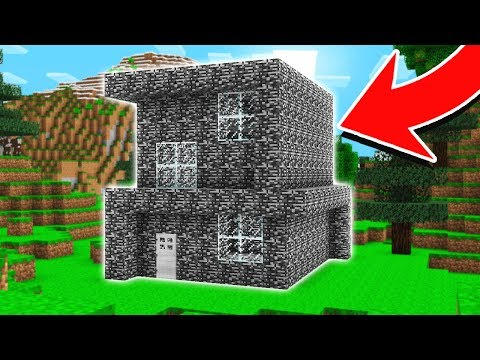 TROLLING PLAYERS HOUSES WITH BEDROCK! (HAHA!)