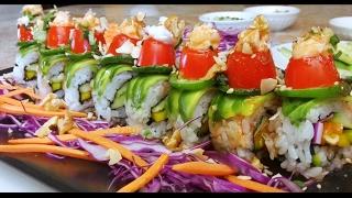Vegan Spicy Coconut Crunch Sushi Roll - Grill Wasabi