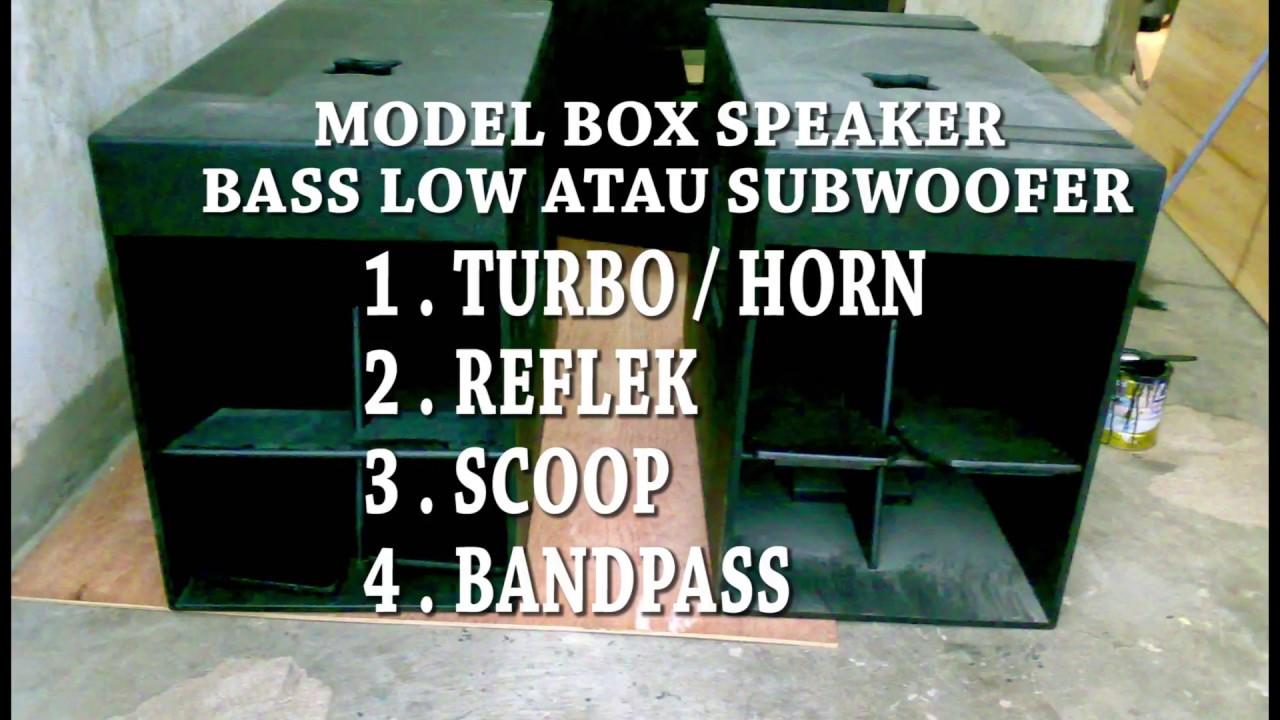 Model Box Speaker Audio Mobil