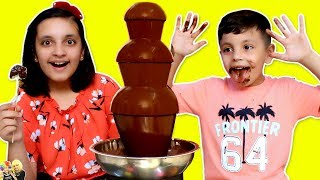 CHOCOLATE FOUNTAIN CHALLENGE | FONDUE #Funny #Kids | Aayu and Pihu Show
