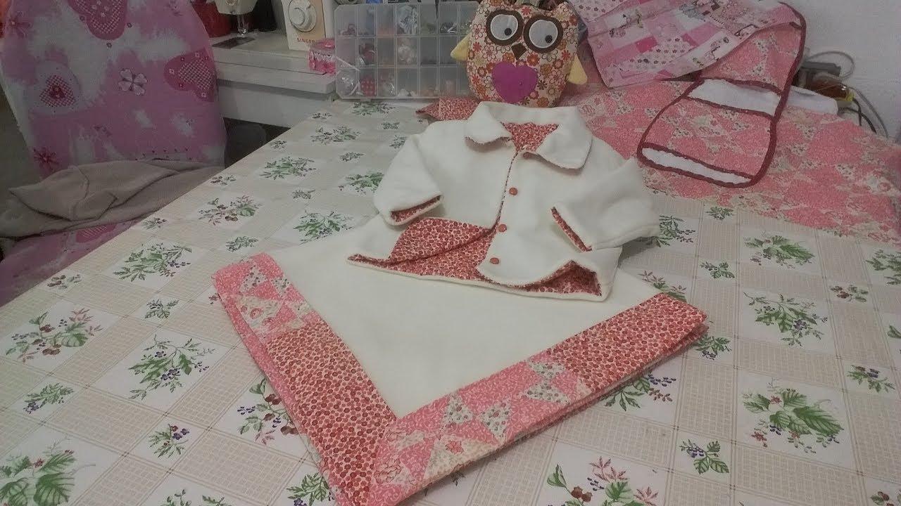 Como fazer manta para bebe com canto mitrado duplo super - Mantas de bebe hechas a ganchillo ...