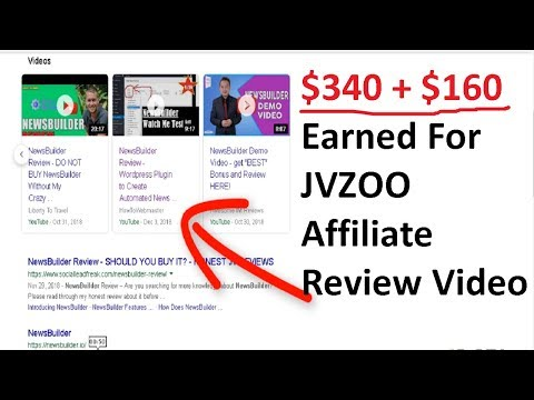 How Much Money I Make From Reviewing JVZOO Affiliate Products on Youtube Part 1