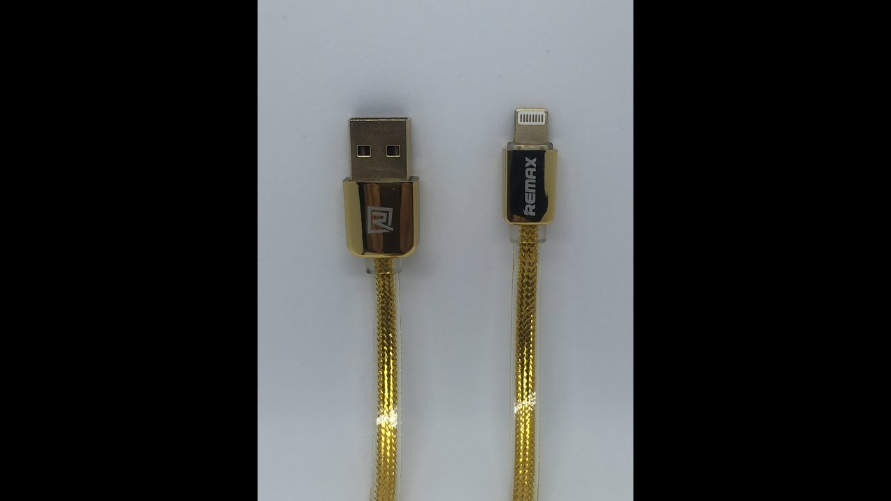 Remax Gold Usb Sync Data Cable Charger High Speed 8 Pin For Iphone Apple Lightning