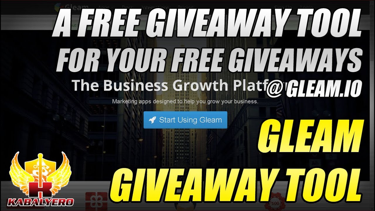 giveaway gleam gleam giveaway tool a free giveaway tool for your free 4212