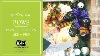 Bows: How to Tie a Halloween Bow Like a Designer Pro