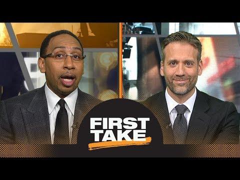 Stephen A. Smith: Celtics should trade Kyrie Irving for Kawhi Leonard | First Take | ESPN