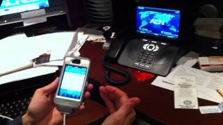 ACN View demo with mobile and landline phone - videoconferencing