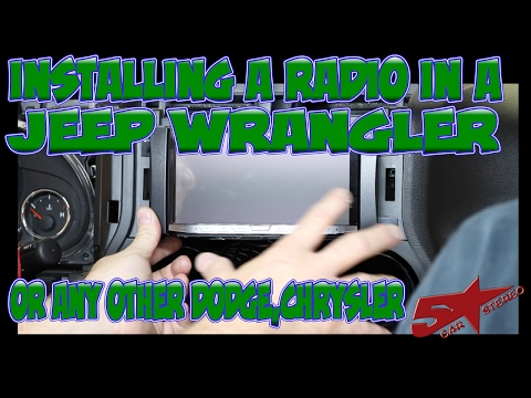 The basic steps to install a radio in a Jeep Wrangler or any other Chrysler  - YouTubeYouTube