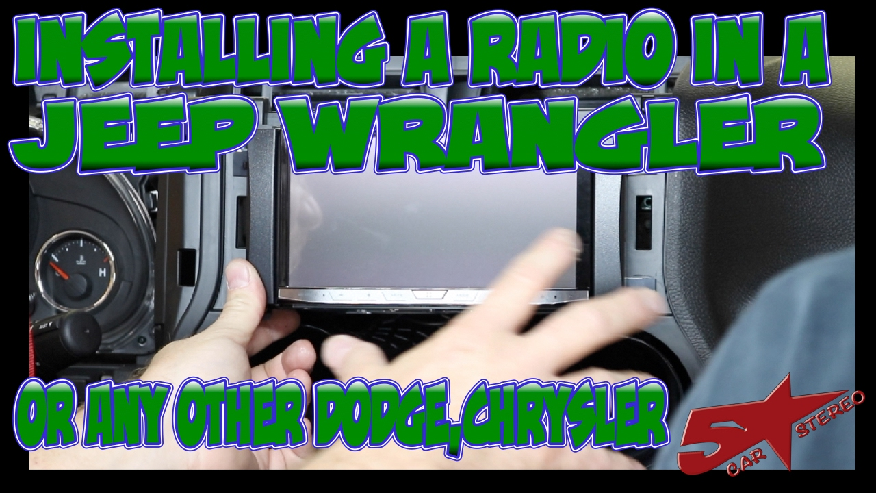 The basic steps to install a radio in a Jeep Wrangler or any other Chrysler  - YouTube