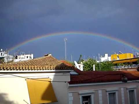 Rainbow over ATHENS skyline-11 sept '10