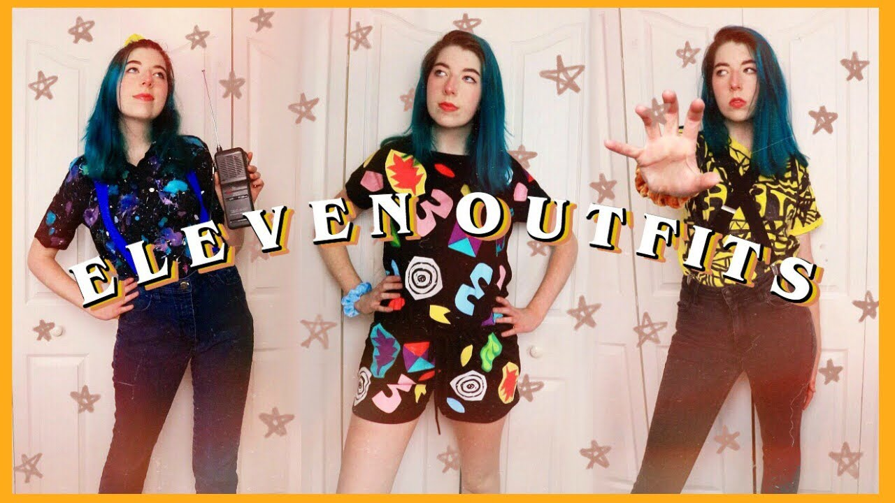 I Diy D Eleven S Outfits From Stranger Things Strangerthings Diy Eleven Youtube
