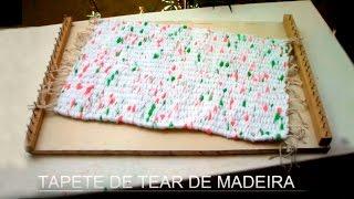 Tapete de tear de madeira – Artesanía: Mat telar de madera por Maria Amora