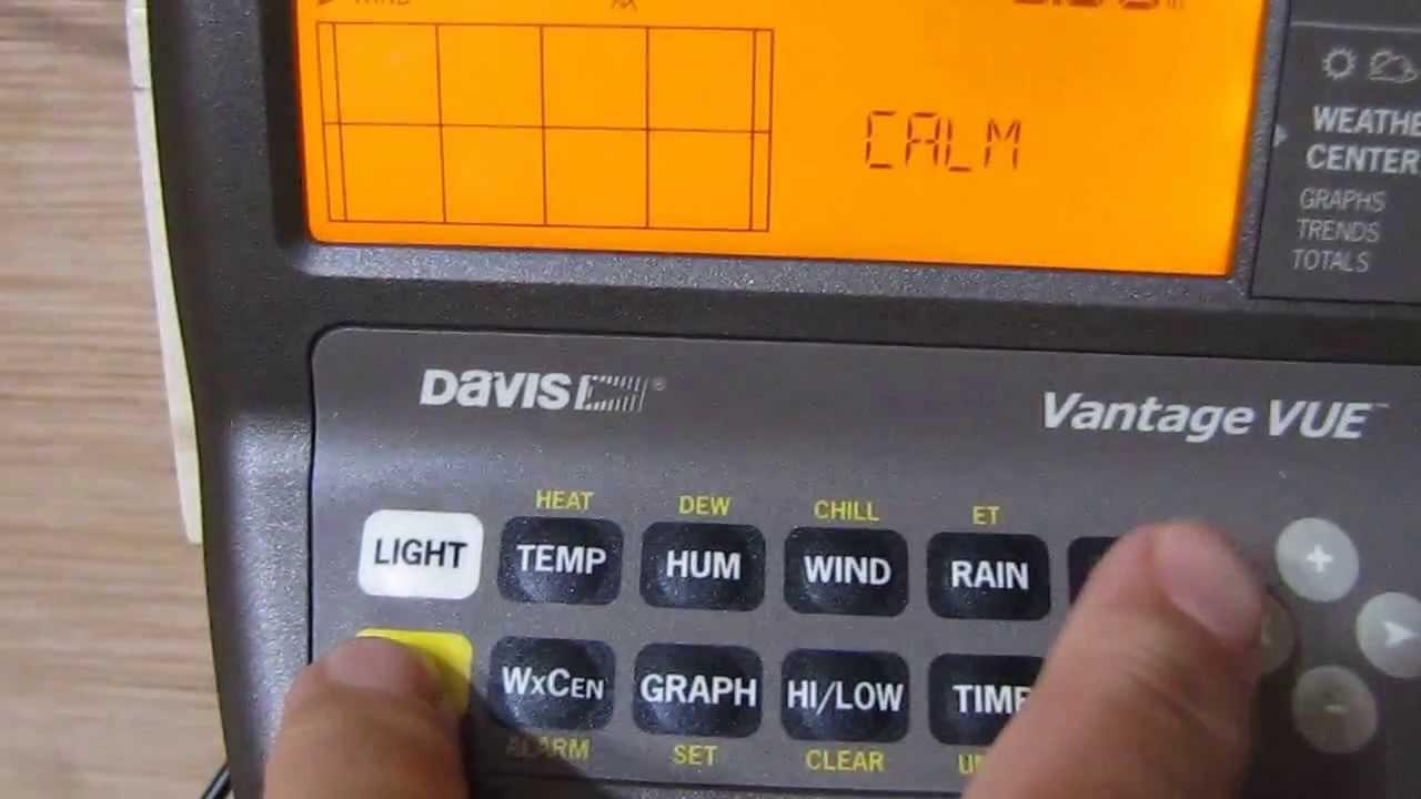 Davis Vantage Vue Console 6351 Weather Station Hidden Tricks By KVUSMC